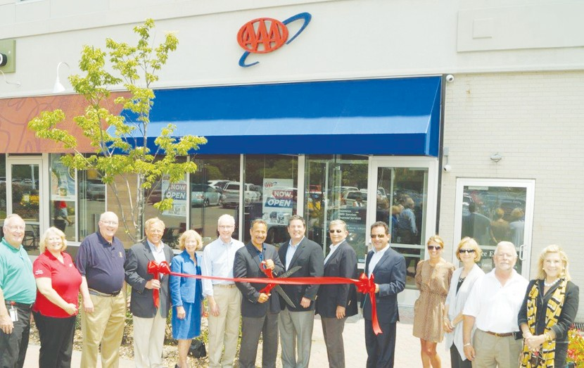 chamber welcomes aaa to new location on franklin ave