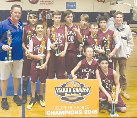 the 7th grade boys travel basketball team known as gcaa sweeney - Island Garden Basketball