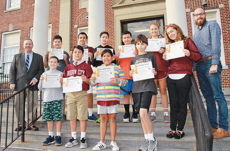 pictured here receiving kindness counts awards for the month of september with garden city - Garden City Middle School
