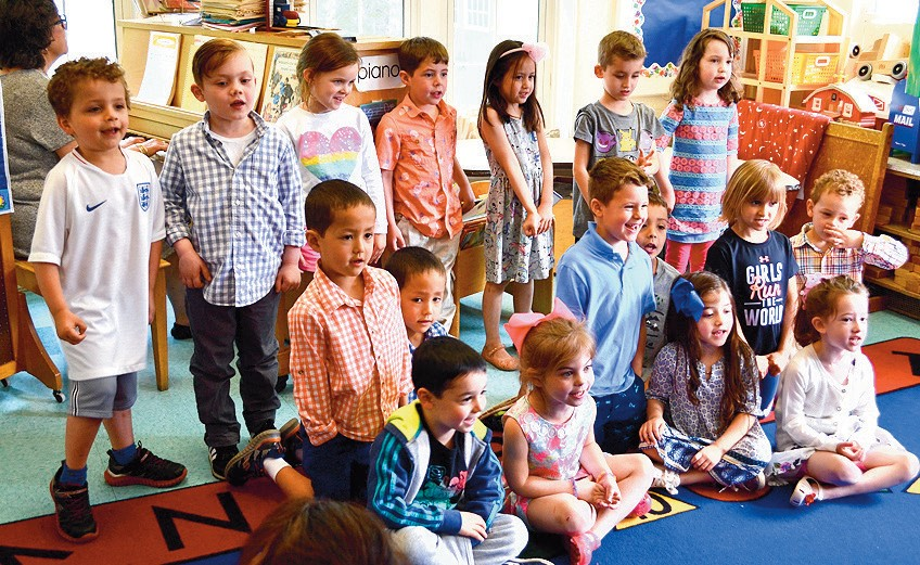 Mrs Rosano S Cl Singing Songs For Mom The Students At Garden City Community Church Nursery School