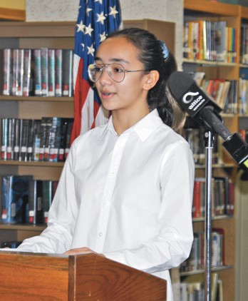 Rough Draft Essay Example At A Ceremony In The Library At Garden City Middle School Eight Grader  Spanish Student How To Write A Process Essay also Listening Skills Essay Gcms Student Wins Grand Prize In Hispanic Heritage Essay Contest  Honour Killing Essay