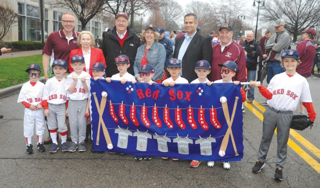 Coach Clavin celebrates Opening Day with Little League